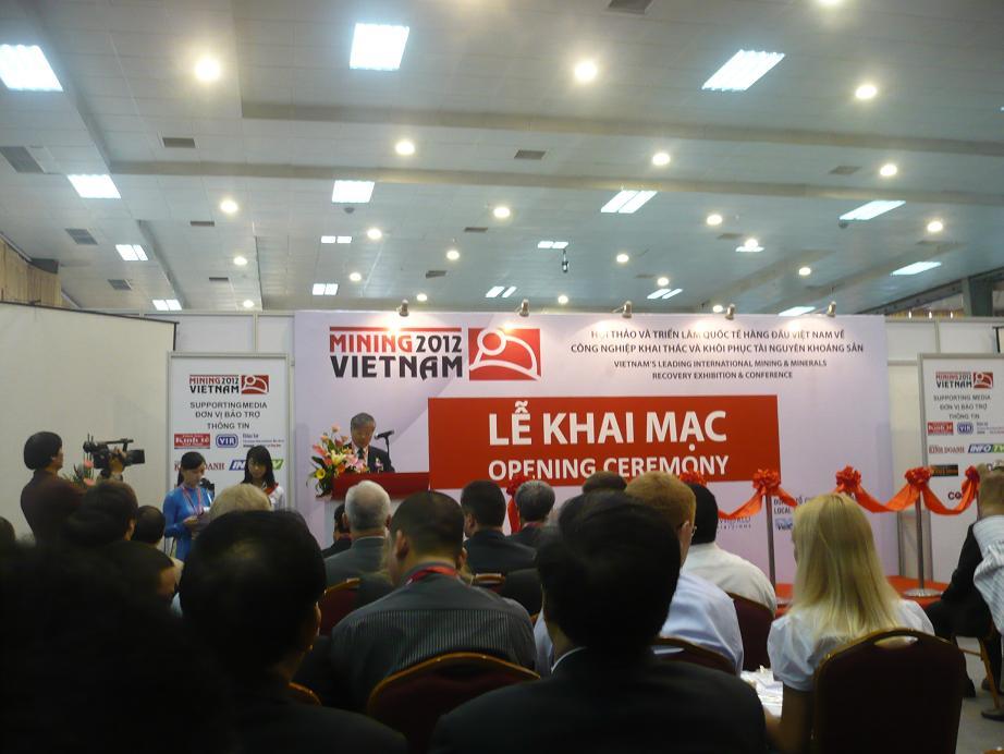 Các báo cáo tại Hội thảo Mining Vietnam 2012 ngày 7 – 9/3/2012 tại Hà Nội